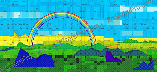 """Landscape with rainbow"""